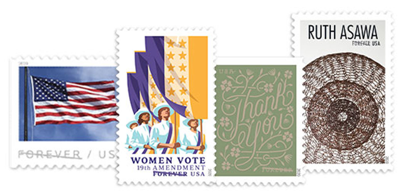 U.S. stamps from the USPS website