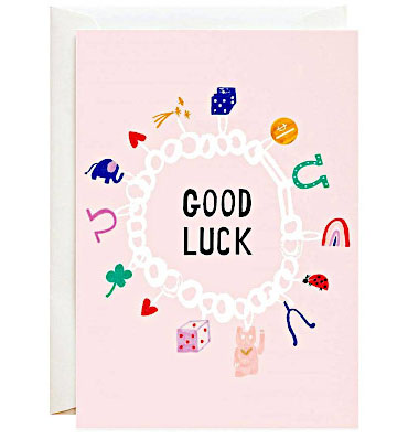 """""""Lucky Symbols"""" card by Mr. Boddington's Studio from Paper Source"""