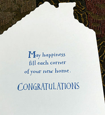 New Home Card from Hallmark