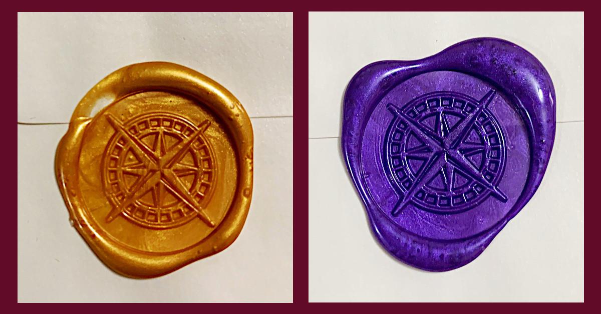 Compass Rose Wax Seals