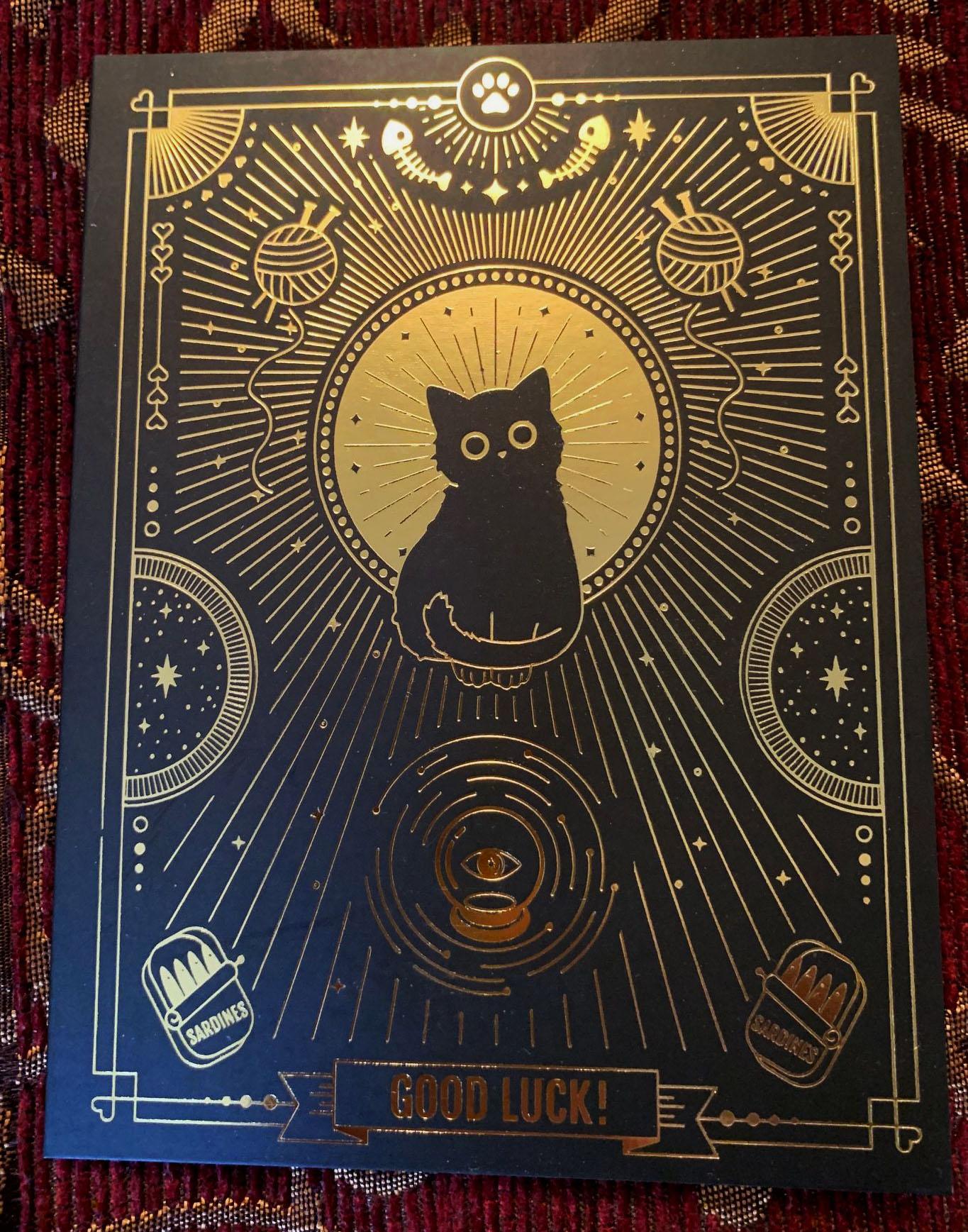 "Compoco ""good luck"" black cat card"