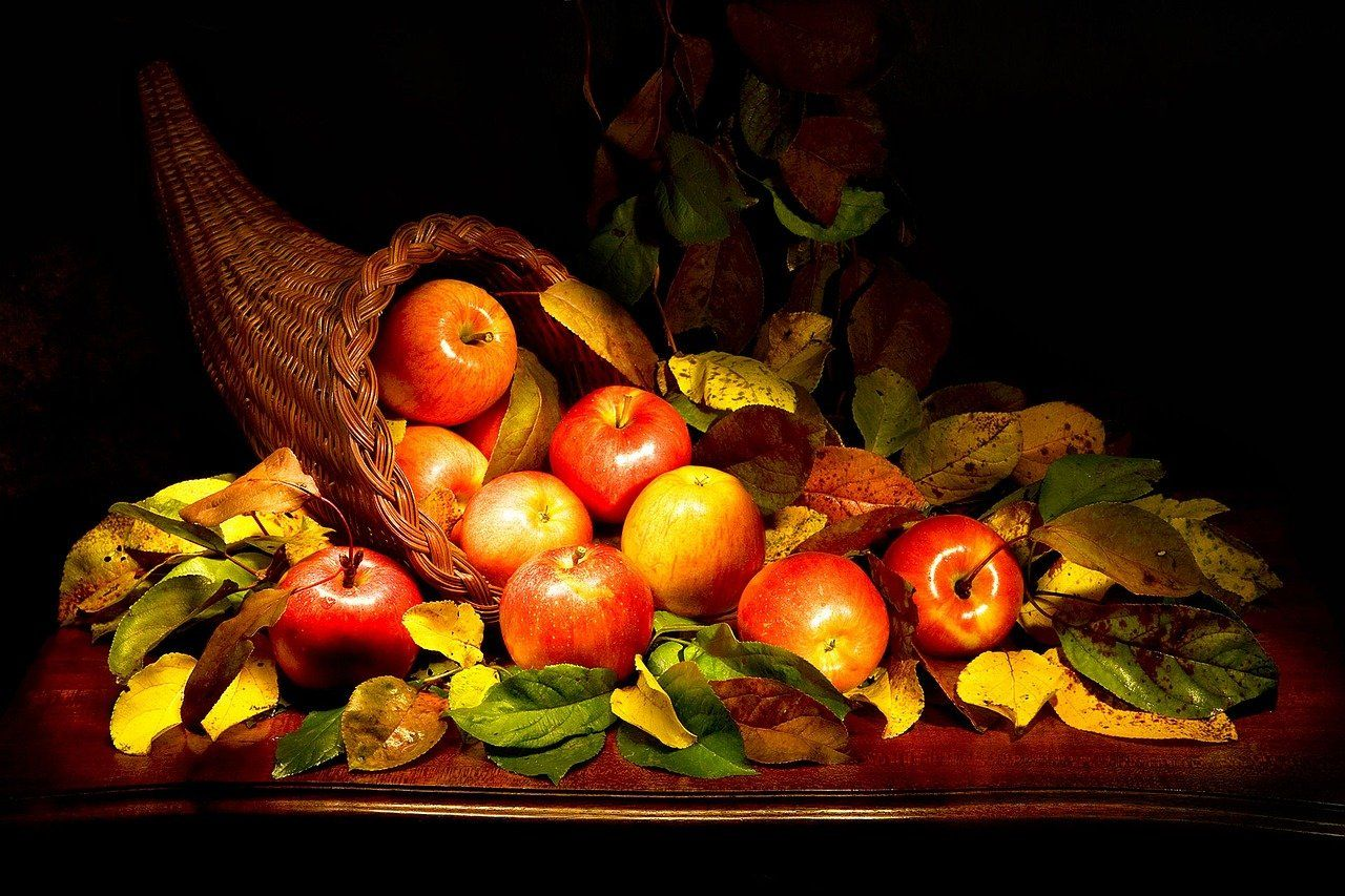 Cornucopia of apples