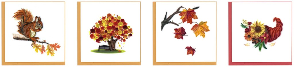 Quilling Card autumn selections