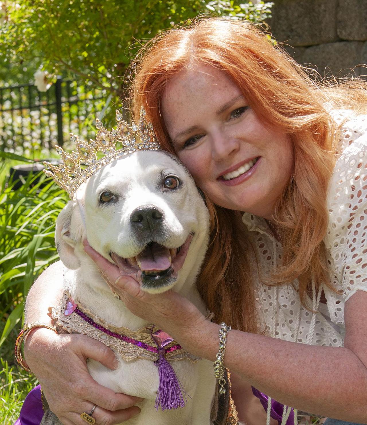Nicole Elizabeth with her beloved rescue dog Darla