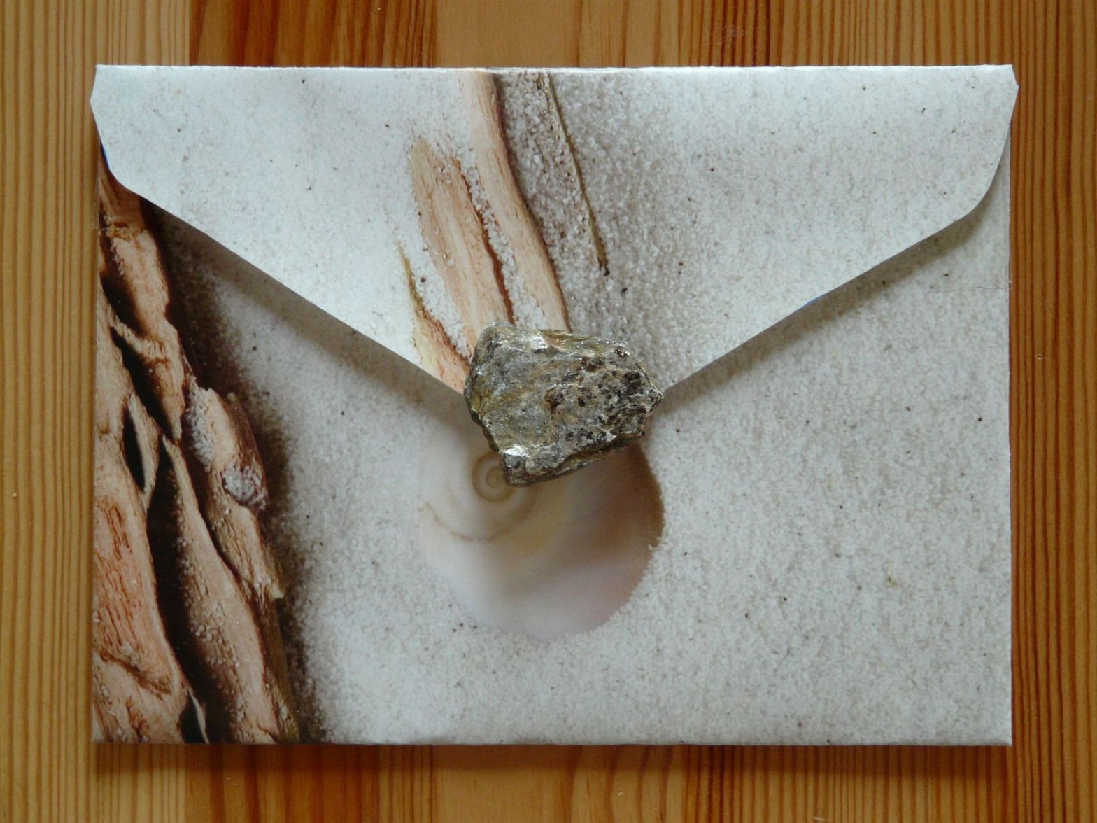 Soap model of a fancy envelope with seal